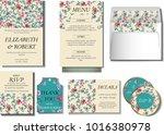 wedding collection  invitation... | Shutterstock .eps vector #1016380978