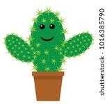 vector illustration of a cute... | Shutterstock .eps vector #1016385790