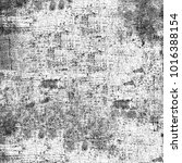 grunge texture black and white. ... | Shutterstock . vector #1016388154