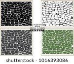 set of cobblestone paving... | Shutterstock .eps vector #1016393086