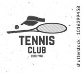 tennis club badge. vector... | Shutterstock .eps vector #1016399458