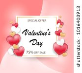 valentines day sale background... | Shutterstock .eps vector #1016403913