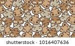 poo seamless pattern vector... | Shutterstock .eps vector #1016407636