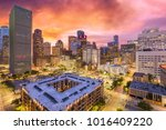 houston  texas  usa downtown... | Shutterstock . vector #1016409220