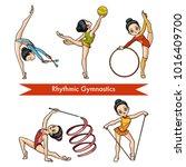 vector colorful set of rhythmic ... | Shutterstock .eps vector #1016409700