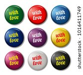 bright round labels with words '... | Shutterstock .eps vector #1016411749