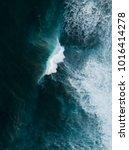 aerial shot of the ocean | Shutterstock . vector #1016414278