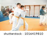 kid judo  childrens training... | Shutterstock . vector #1016419810