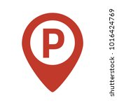 map marker with parking icon.... | Shutterstock .eps vector #1016424769