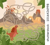 educational maze game. help... | Shutterstock .eps vector #1016426998