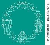 toys for children  robots ... | Shutterstock .eps vector #1016427646