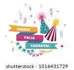 samba folia  carnaval.... | Shutterstock .eps vector #1016431729