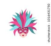 hand drawn carnival vector mask ... | Shutterstock .eps vector #1016431750