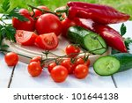 Ingredients for a fresh healthy salad - stock photo