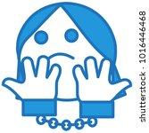 emoji with handcuffed woman... | Shutterstock .eps vector #1016446468