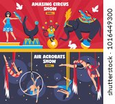 circus performers horizontal... | Shutterstock . vector #1016449300