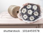 beautiful bouquet lavender and... | Shutterstock . vector #1016453578