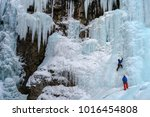 Ice Climber On The Frozen Uppe...