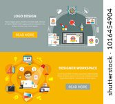 designer tools banner set with... | Shutterstock . vector #1016454904