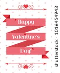 valentine's day. happy... | Shutterstock .eps vector #1016454943