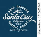 santa cruz surf raiders  ... | Shutterstock .eps vector #1016455060