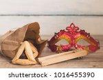 purim jewish holiday... | Shutterstock . vector #1016455390