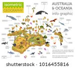 isometric 3d australia and... | Shutterstock .eps vector #1016455816