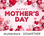 mother's day greeting card ... | Shutterstock .eps vector #1016457409