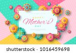 mother's day greeting card with ... | Shutterstock .eps vector #1016459698