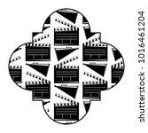 retro stamp with movie cinema...   Shutterstock .eps vector #1016461204