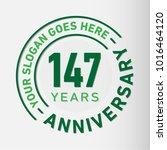 147 years anniversary logo... | Shutterstock .eps vector #1016464120