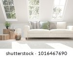 idea of white room with sofa...   Shutterstock . vector #1016467690