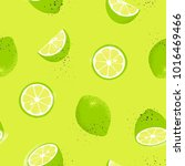 seamless pattern with slices... | Shutterstock .eps vector #1016469466