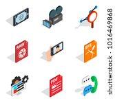 multimedia icons set. isometric ... | Shutterstock .eps vector #1016469868