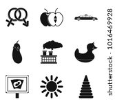 maternity leave icons set.... | Shutterstock .eps vector #1016469928