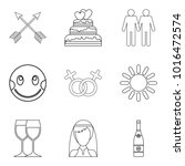 tenderness icons set outline
