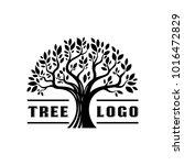 silhouette tree logo vintage... | Shutterstock .eps vector #1016472829