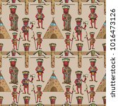 vector seamless pattern... | Shutterstock .eps vector #1016473126