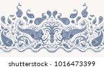 vector seamless pattern.... | Shutterstock .eps vector #1016473399