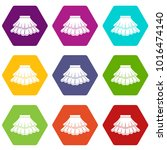 skirt icon set many color... | Shutterstock .eps vector #1016474140
