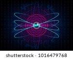 hud  atom futuristic background