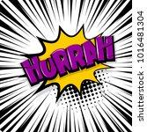 hurrah  scream. comic text... | Shutterstock .eps vector #1016481304