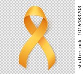 realistic gold ribbon ... | Shutterstock .eps vector #1016483203