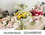 Bouquets On Table  Florist...