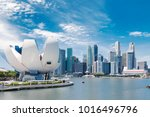 singapore city landscape at day ... | Shutterstock . vector #1016496796