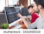 developing programming and... | Shutterstock . vector #1016500210
