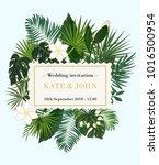 wedding invitation  background... | Shutterstock .eps vector #1016500954