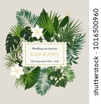 wedding invitation  background... | Shutterstock .eps vector #1016500960