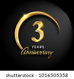 3 years anniversary celebration.... | Shutterstock .eps vector #1016505358