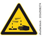 warning corrosive substances... | Shutterstock .eps vector #1016508274